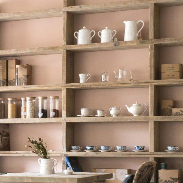 Barattolo bianco grande in-ceramica con manici-Luxe Lodge