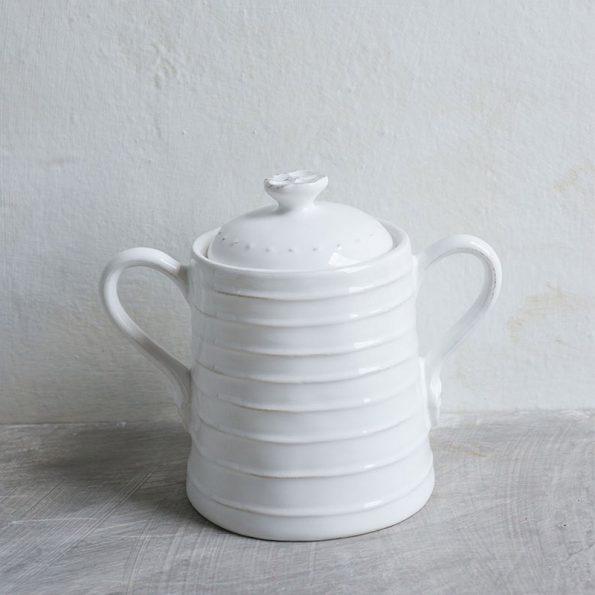 Barattolo medio in ceramica con manici-Luxe Lodge