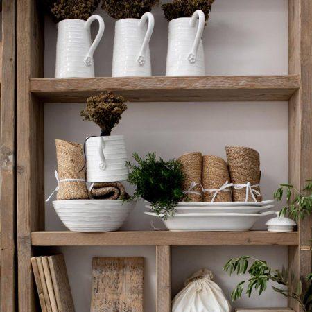 Barattolo bianco medio in ceramica con manici - Luxe Lodge