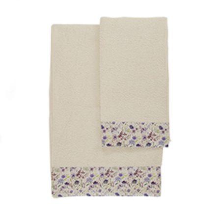 Coppia di asciugamani bianco Provenza – Nuvole di Stoffa