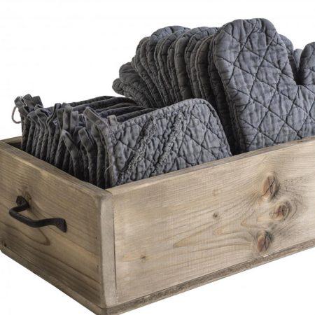 Guantone da cucina in lino grigio - Luxe Lodge