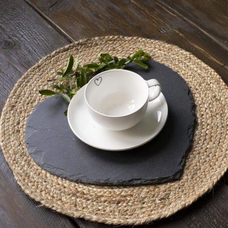 Tazza con piatto in porcellana - Luxe Lodge